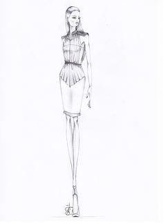 Fashion illustration - fashion design sketch // Andrea Angelucci