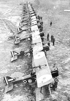 85 Sqn aircraft at St Omer, France during WW1