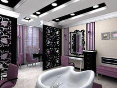 Decoração de salão de beleza e cabeleireiros