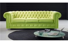 SILLÓN / SOFÁ CHESTER TELA. Sillón o sofá capitoné de botones tapizado en tela de estilo vintage.