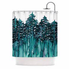 Kess InHouse Ebi Emporium 'Forest Through The Trees 5' Shower Curtain