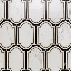 Inara Cavalier Brass And Marble Tile   TileBar.com