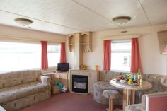 Aschcombe Caravan - for 6 to 8 people Bronze, 3 bedroom caravan, with 1 double and 2 twin rooms + double sofa bed in lounge. Devon Holidays, Holiday Accommodation, Sofa Bed, Caravan, Twin, Lounge, Bronze, Rooms, Bedroom