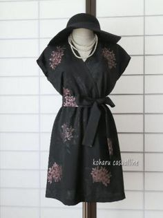 kimono remake Kimono Fabric, Kimono Dress, Kimono Jacket, Kimono Style, Japanese Costume, Japanese Kimono, Fashion Sewing, Kimono Fashion, Women's Fashion
