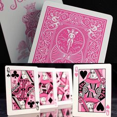 Bicycle Playing Cards - Ribbon Edition (I use these for Cartomancy and the occasional hand of solitaire :p)