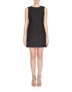 Cynthia Steffe Jade Tiled Tech Mesh Shift Dress Women's Black 8