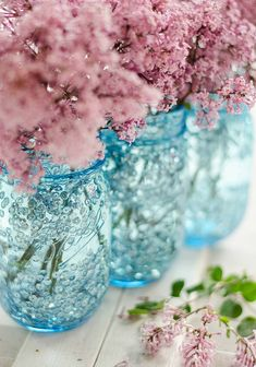 1 of 3 Sequined blue mason jar -how to tutorial. Keep in mind that Mod Podge is, at its core, glue.  So you can't put water in these vases. Dried grasses or artificial flowers. Pencils, straws etc OR place a smaller jar or container inside with water in it for fresh flowers.