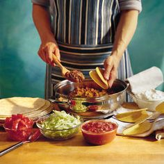 23 Quick-Fixes with Ground Beef   Easy Skillet Tacos   SouthernLiving.com