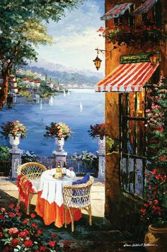 ART~ The Romantic Mediterranean~ Artist,  Sharie Bohlmann Hatchett