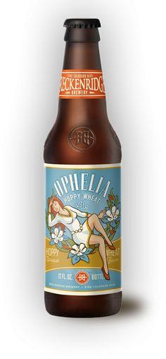 Cerveja Breckenridge Ophelia Hoppy Wheat, estilo American Pale Ale, produzida por Breckenridge Brewery, Estados Unidos. 5% ABV de álcool.
