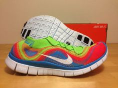 wholesale dealer 204fd fe09a Details about Nike Flyknit Free 5.0 Rainbow Mens Size 11