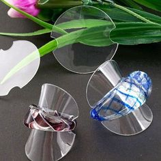 100 X Jewelry Rings Plastic Stand Display Showcase 38mm HOT