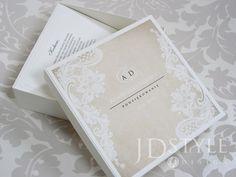 Podziękowania ślubne dla rodziców w formie pudełka z blankietem, na zdejmowanym wieczku motyw graficzny  koronki VI-29-PR-P Wedding, Design, Style, Valentines Day Weddings, Swag, Weddings, Mariage, Marriage