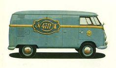 Vintage VW logo bus