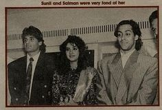 Death Anniversary of Divya Bharti, who is pictured here with Salman Khan and Sunil Shetty. RIP