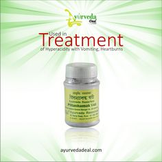 Rasashala pittashamak vati used in treatment of #Hyperacidity with Vomitting, Heartburns, Headache, Vertigo & Hyperemesis Gravidarum. Buy @