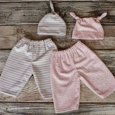 Follow our step-by-step photo tutorial to learn how to sew your own pair of baby pants and matching hat for the little ones in your life!