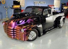 Chevy Custom Pick-Up Truck Hot Rod Trucks, Gmc Trucks, Cool Trucks, Cool Cars, Custom Trucks, Custom Cars, Mini Buggy, Automobile, Auto Retro