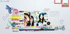 """Layout doble con """"Better together"""" de Amy Tangerine"""