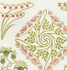 Art Nouveau Colour Stencil/@Tracy Stewart Pillarinos.#Art Nouveau Design#