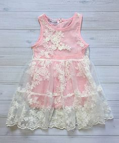 This Chicaboo Pink Lace-Overlay A-Line Dress - Infant, Toddler & Girls by Chicaboo is perfect! #zulilyfinds