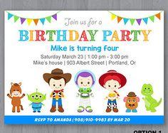 Toy Story Invitation Toy Story Birthday Invitation by KidzParty
