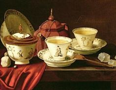 This is the painting we were trying to reproduce yesterday. It's from Pieter Gerritsz van Roestraten, called A Yixing Teapot and a Chinese Porcelain Tete-a-Tete on a Partly Draped Ledge and it's from the century. Tee Kunst, Yixing Teapot, Boston Museums, Boston Tea Parties, Earl Grey Tea, Chinese Tea, Tea Art, Dutch Artists, Oil Painting Reproductions