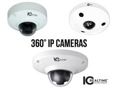 ICRealtime has the ultimate 360 Degree IP Security Surveillance Cameras! The ICIP360 series dome camera is a realtime, 360° situational awareness camera. It is capable of recording a wide area of surveillance, and de-warping the native FishEye view in order to watch a stream that is undistorted to the human eye. Some of the features can include max IR LED's length of 30 feet, built in microphones, up to 12 Megapixel, and can be used with your smart phone, iPhone, iPad, Android, Windows Phone…