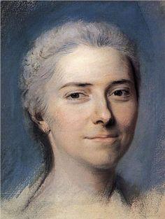Study for portrait of Mademoiselle Dangeville - Maurice Quentin de La Tour