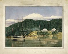 Charles Heaphy, the Hokianga Colonial Art, Bay Of Islands, New Zealand Art, Contemporary Artwork, East Coast, Old Photos, New Art, Original Art, Landscape