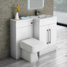 Valencia 1100 Combination Basin & WC Unit with Square Toilet