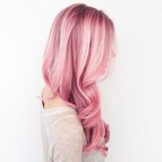Curly Long Pastel Pink Hairstyle