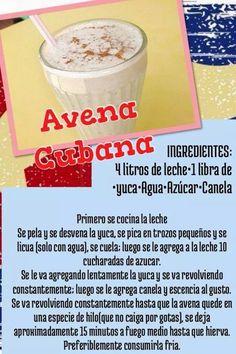 Avena cubana Cuban Recipes, New Recipes, Market Stalls, Latin Food, Deli, Cravings, Smoothies, Salsa, Easy Meals