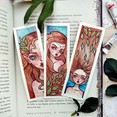 A little elf will be an excellent company when reading your magic books. A set of original watercolor bookmarks. Watercolor Drawing, Watercolor Paintings, Mermaid Paintings, Painting Inspiration, Art Inspo, Arte Tim Burton, Art Sketches, Art Drawings, Watercolor Bookmarks