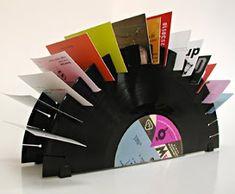 Coisas para se fazer com disco de vinil! | Artesanato & Humor de Mulher