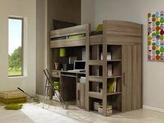 Loft Mezzanine Bed - Grey Oak
