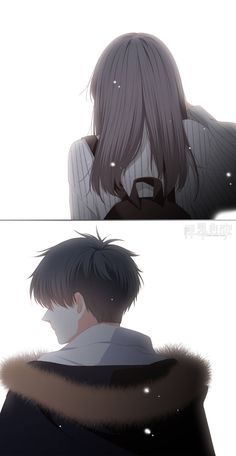 When two lonely hearts look out and find each other, there are never alone again. Sad Anime Couples, Anime Couples Drawings, Manga Couple, Anime Love Couple, Sad Anime Girl, Anime Art Girl, Anime Cupples, Cute Couple Wallpaper, Anime Friendship