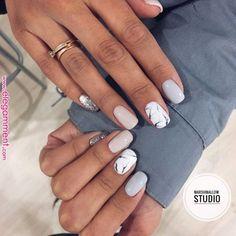 59 Beautiful Nail Art Design To Try This Season long coffin nails glitter nails mixmatched nail art nail colors mauve nails nail poli Mauve Nails, Shellac Nails, My Nails, Nail Polish, Acrylic Nails, Gell Nails, Nail Nail, Coffin Nails Glitter, Coffin Nails Long