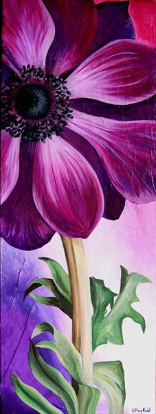Beautiful flower painting idea by georgia okeffe Anemone - Tiffany Budd Art Floral, Acrylic Painting Canvas, Canvas Art, Painting & Drawing, Watercolor Paintings, Afrique Art, Love Art, Purple Flowers, Painting Inspiration