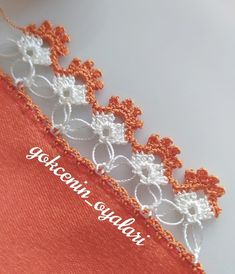 Crochet Trim, Filet Crochet, Crochet Hooks, Knit Crochet, Crochet Flower Tutorial, Crochet Flowers, Baby Knitting Patterns, Tatting, Needlework