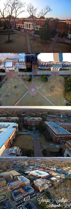 Arial shots of Georgia College & State University in Milledgeville, GA♥ M.Williams Sky Photography