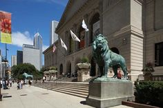 Photograph:Two bronze lions have decorated the main entrance to the Art Institute of Chicago since the building opened in 1893.