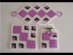 Team, Square Fibre Making # Crochet Potholder Patterns, Crochet Squares, Baby Knitting Patterns, Love Crochet, Knit Crochet, Crochet Hats, Crochet Pixel, Rajasthani Mehndi Designs, Berber