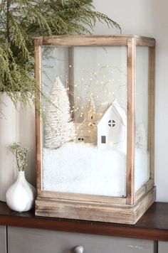white christmas diy-christmas-village-t - Diy Christmas Village, Decoration Christmas, Christmas Villages, Noel Christmas, Xmas Decorations, Winter Christmas, Vintage Christmas, Christmas Crafts, Christmas Ornaments