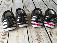 Baby Moccasins, Crib Shoes, metallic baby moccasins, monogram baby shoes by TheCopperFoxBoutique on Etsy