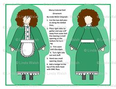 Mercy Cut and Sew Doll Ornaments - Linda Walsh Originals - Custom Fabric Designs By Linda Walsh