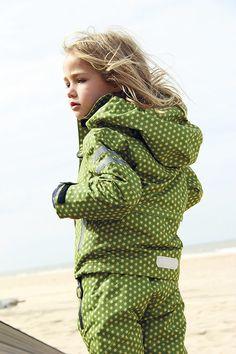 dziewczynka - kurtki i płaszcze - unisex-Kurtka całoroczna 3 w 1 z polarem, Funky green
