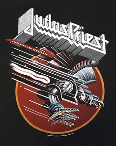 Judas Priest - Screaming for Vengeance (t-shirt) Heavy Metal Rock, Heavy Metal Music, Heavy Metal Bands, Rock Posters, Band Posters, Concert Posters, Festival Posters, Death Metal, Rock Band Logos