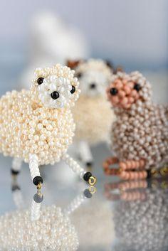 Beaded Sheep - free PDF  #Seed #Bead #Tutorials
