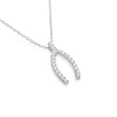 "Sterling Silver and CZ Wishbone Necklace Your choice....$30!! *16"" + 2"" extender total length. *also available in Rose Gold and Yellow Gold plated. www.facebook.com/groups/jewelrybycara"